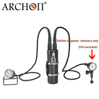 ARCHON WH46 DH40 Underwater Canister Diving Flashlight Diving Photography Video Light * 4*L2 LED(DH160 WH166 Only Lamp Head)