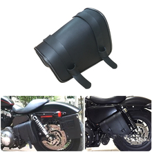 Motorcycle black buckle waterproof Saddlebag left storage kit Harley XL883 XL1200