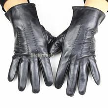 Mens leather gloves no lining stripes style sheepskin spring summer outdoor driving free shipping