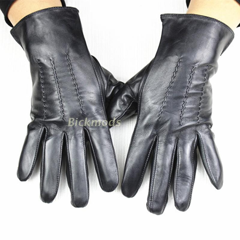 Men's Sheepskin Leather Gloves Unlined 100% Animal Thin Leather Cycling Spring and Autumn Driving Gloves