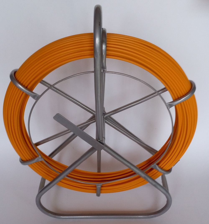 pręt kanałowy z ramą wózek ściągacz kabla popychacz popychacz przewód pręt 6mm 150M