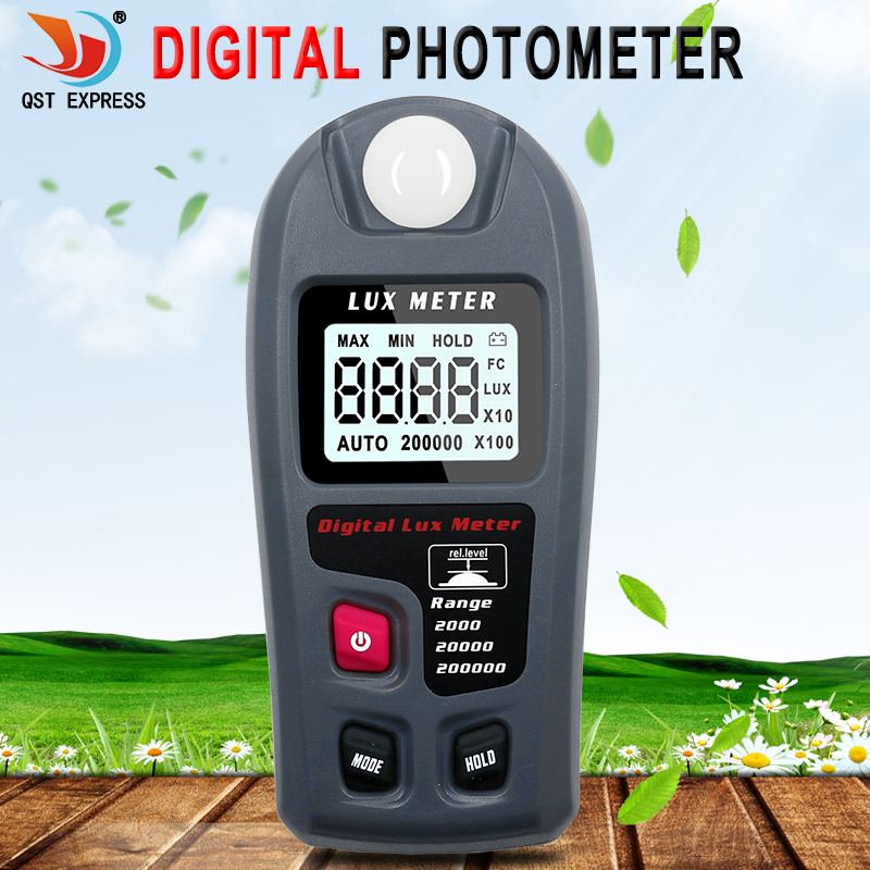 Digital Lux Meter 200,000 Lux Digital LCD Pocket Light Meter Lux FC Measure Tester MT-30