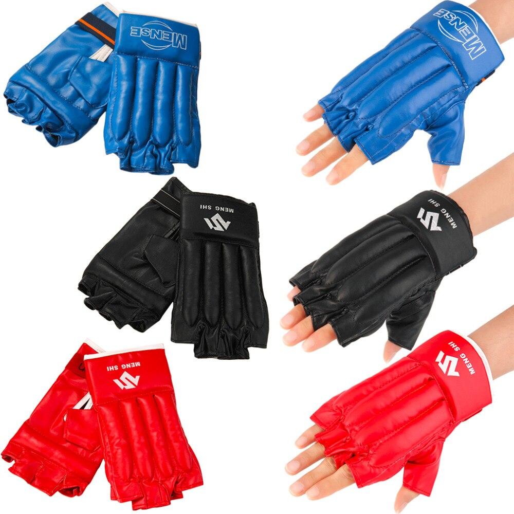 2017 New Mitts Half finger Fitness Boxing font b Gloves b font Punch Bag Training Equipment