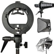 Godox S-Tipo Bracket Bowens S-Tipo Guarda-chuva de Montagem Suporte para o Flash Softbox Snoot Speedlite Beleza Prato Favo De Mel