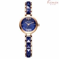 KIMIO NEW Brand Imitation Ceramic Gold Watches Women Fashion Watch Luxury Wristwatches