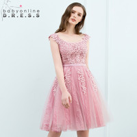 Multiple Colors Lace Homecoming Dresses with Pearls Tank Sleeve Short 8th Grade Dresses Cheap Graduation Dresses Vestido Curto