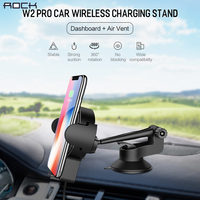 Car Wireless Charging Stand ROCK 5V 2A QI Wireless Charger With Air Vent Mount For IPhone