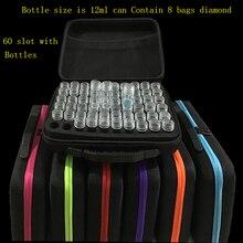 Dpsprue 7 цветов 30/60 бутылок для алмазной живописи аксессуары для вышивки крестом ящик для инструментов контейнер для хранения алмазов сумка чехол для вышивки
