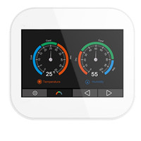 Modbus tcp color touch screen thermostat with English/German/Polish/Czech/Italian/Spainish /French/