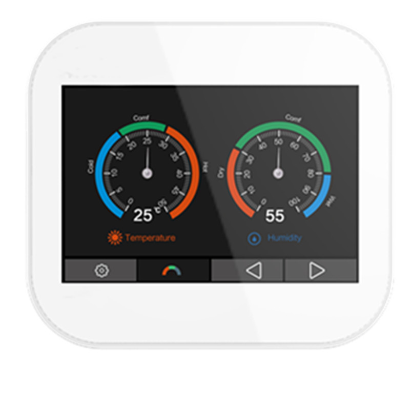 Modbus  RTU Color Touch Screen Thermostat With English/German/Polish/Czech/Italian/Spainish /French/