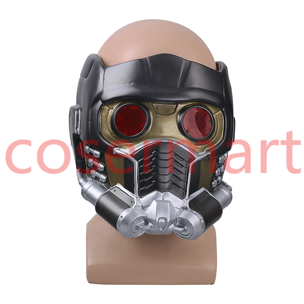 Cos Guardians of the Galaxy Helmet Cosplay Peter Quill Helmet PVC with Led Light Star Lord Helmet Halloween Party Mask Adults (5)