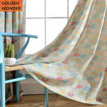 Fashion Cartoon Children Room Curtain Polyester Cotton Printed Living Window Fabric Decoration