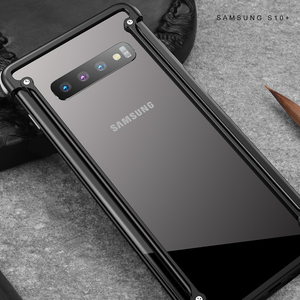 Image 5 - Oatsbasf Luxury Metal Case For Samsung Galaxy S10 S10 Plus S10e Personality for Metal Bumper Cover shockproof  Case