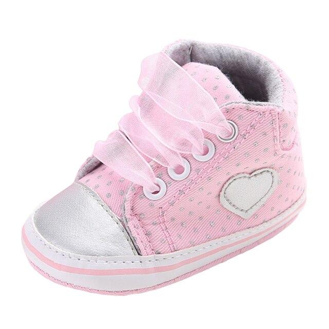 624e4d50d0c54 Sapatos Berço Do Bebê recém-nascido Meninas Tênis Infantil Botas Curtas  Lace-up Suave