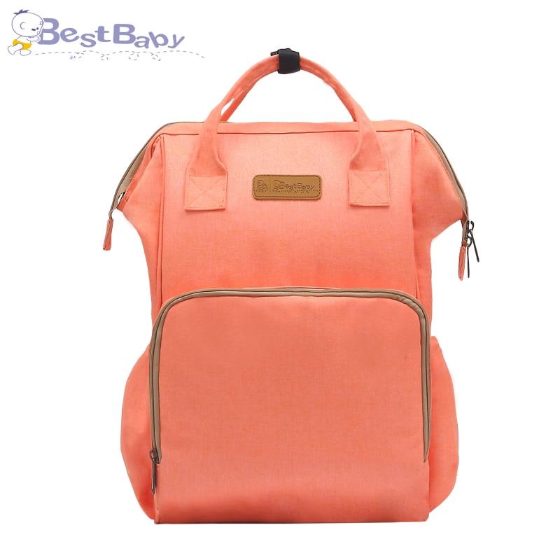 2018 moda mamá maternidad pañal bolsa de gran capacidad bolsa de viaje mochila Desinger bolsa de enfermería para cuidado del bebé mochila - 3