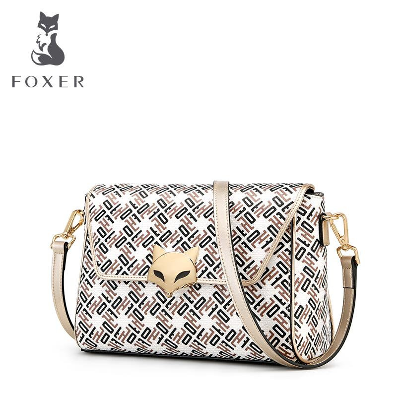 FOXER brand bag Handbag 2018 new Korean version of the wild fairy chic handbags Messenger bag Fashion handbag shoulder bag 2018 women s new handbags made of pu in korean version 3pcs handbag shoulder bag purse