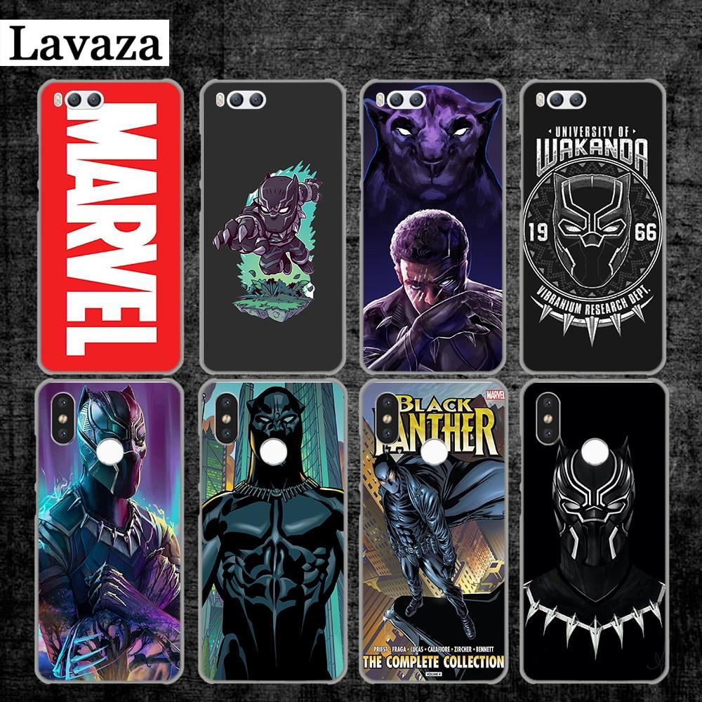 Lavaza Marvel Comics Black Panther Hard Case for Xiaomi MI 5 5S 6 8 9 SE Lite F1 A1 A2 5X 6X Mix 2S MAX 3