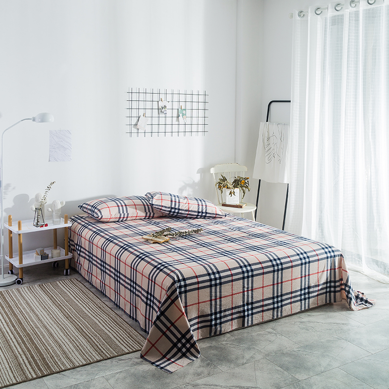 Ropa De Cama Stylish Yellow Plaid Pattern Cotton 3Pcs Bed Sheet Hotel Home Bed Factory Wholesale Can Be Customized Pillowslip Ropa De Cama Stylish Yellow Plaid Pattern Cotton 3Pcs Bed Sheet Hotel Home Bed Factory Wholesale Can Be Customized Pillowslip