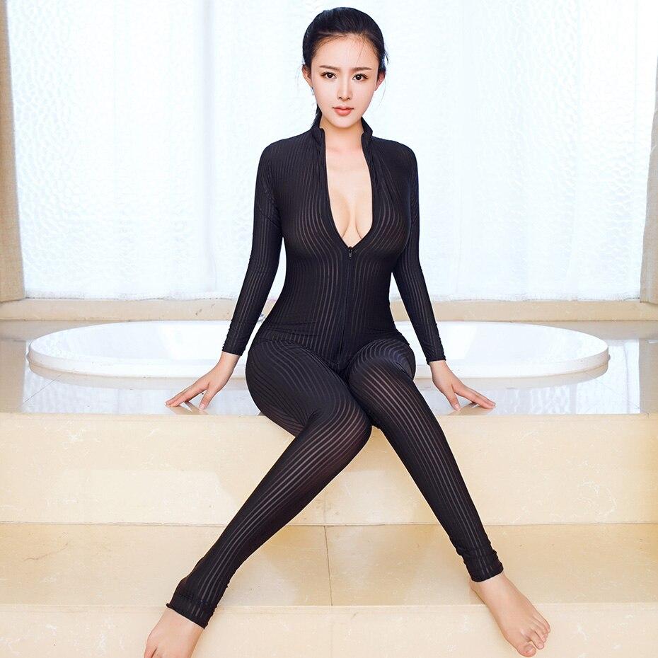 Darlingaga deep v neck neon satin strap sexy bodysuit women fashion fi couture fashion international