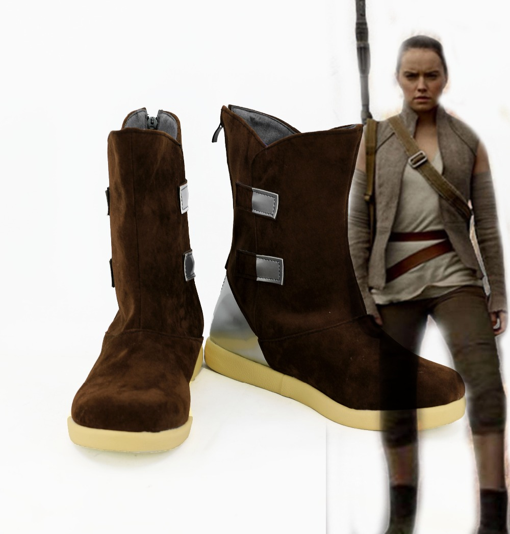 Movie Star Wars VIII The Last Jedi Rey Boots Cosplay Shoes for Halloween Cosplay Party Male