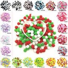 Lot de 2000 pompons multicolores de 10mm, pour jouets, pompons et artisanat, boules pelucheuses pour bricolage, matériaux, accessoire 1cm