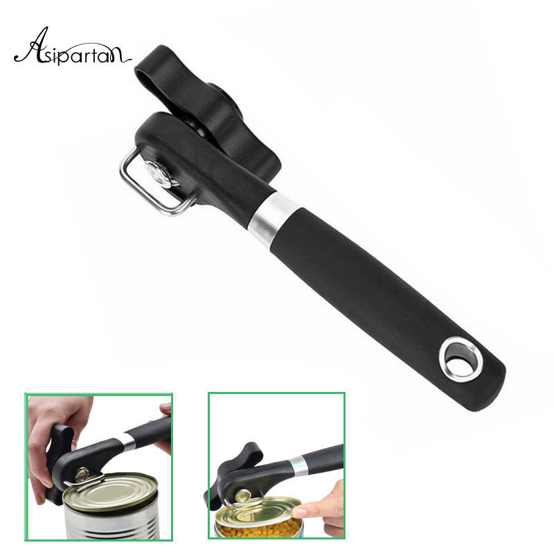 Asipartan Smooth Edge Cans Opener Professional Effortless Manual Handy Can Opener Side Cut Manual Can Opener