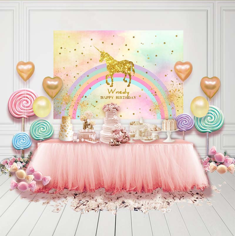 Photography Backdrops Customized Children Birthday Party