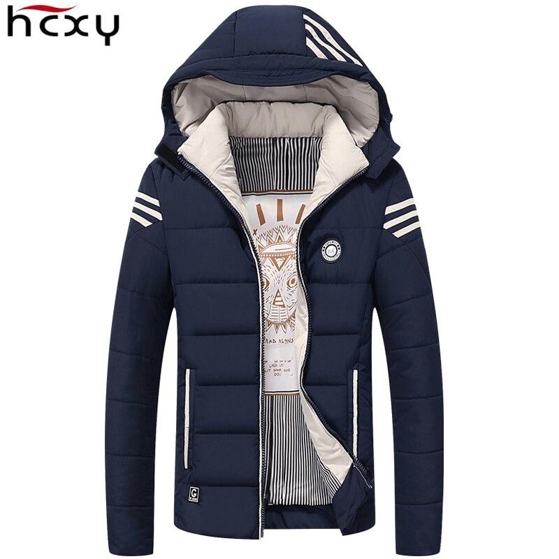 HCXY Hommes Hiver Veste 2017 Marque Casual Hommes Vestes Et manteaux Épais Chaud Veste Hommes Parka Survêtement Manteau Plus La Taille 4XL