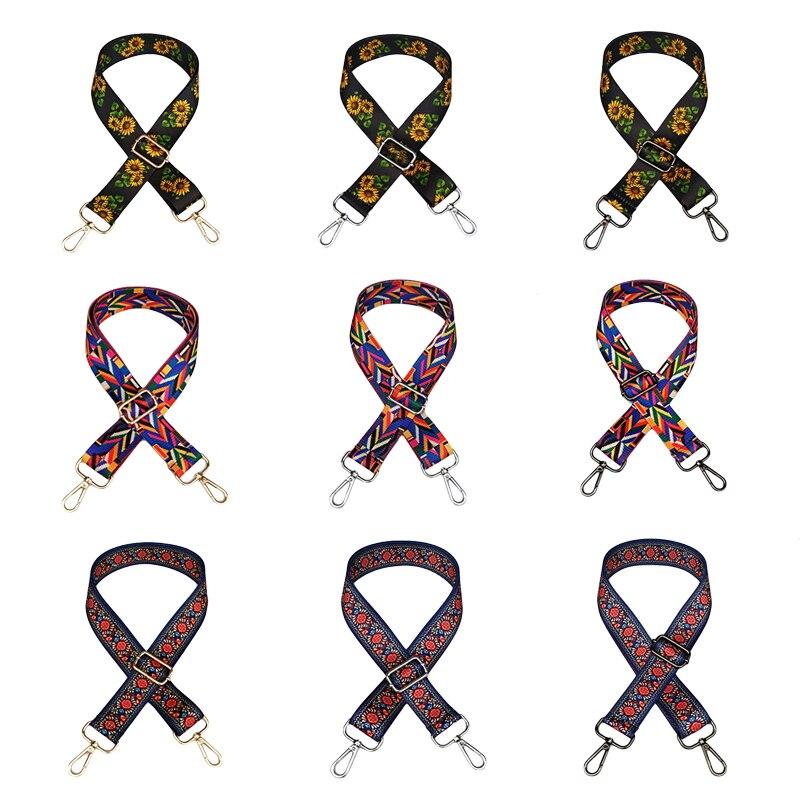 Nylon Bag Straps Shoulder Handbag Messenger Rainbow Belt for a Bag Accessories Handle Crossbody Womens Bags Wide strap for Women