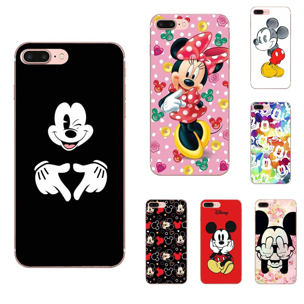 Schönheit Cartoon <font><b>Mickey</b></font> Minnie Maus Ultradünne Für Galaxy J1 J2 J3 J330 J4 <font><b>J5</b></font> J6 J7 J730 J8 2015 <font><b>2016</b></font> 2017 2018 mini Pro image