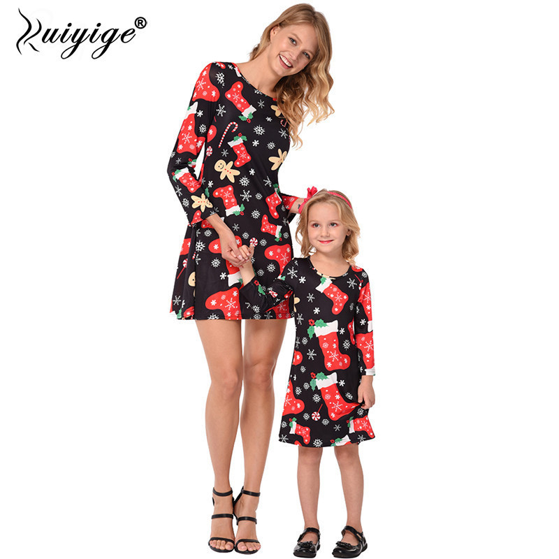 Ruiyige Santa Claus Print Girls Dresses Christmas 2018 Kids Vestido Clothes Children Robes Santa Princess Costume SpringDress