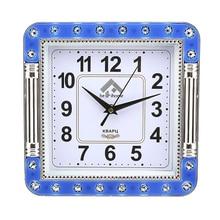 ФОТО color border study square wall clock simple large quartz watch clock fashion modern design wall watches duvar saati home decor