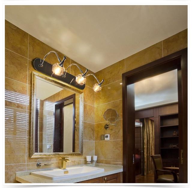 European Crystal Mirror Lights Led Cabinet Front Bathroom Dresser Lighting