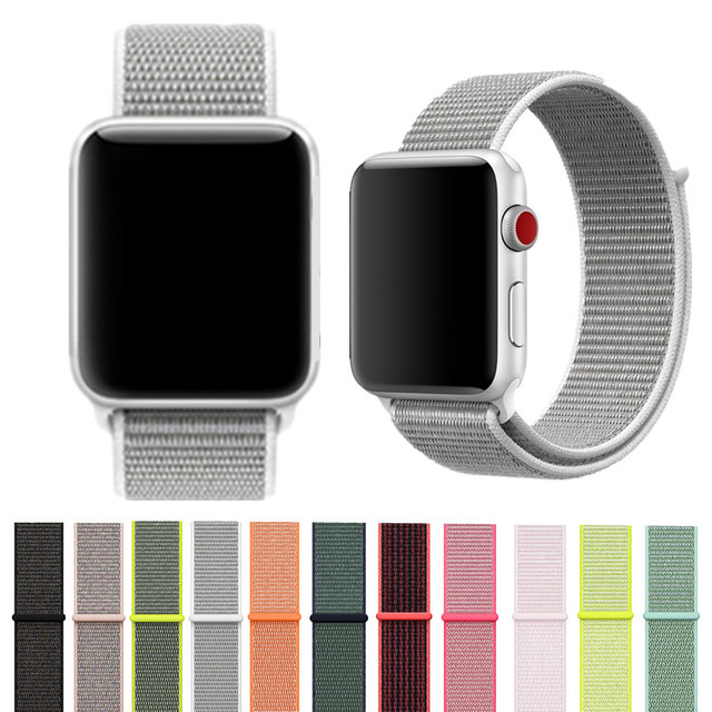 Series 1 2 3 Lightweight quality Nylon Strap watchband  Watch Bands for Apple Watch Breathable nylon Band for iwatch 38mm 42mm