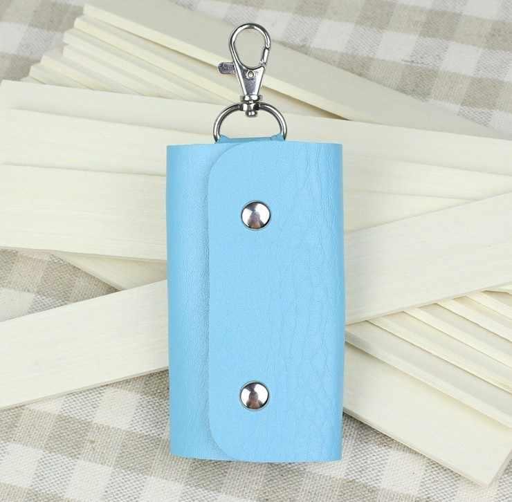 Nova moda couro Pu qualidade de cores de governanta chave do carro carteiras para homens 04