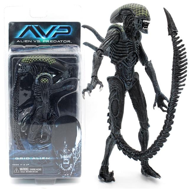 neca aliens vs predator avp series grid alien xenomorph translucent