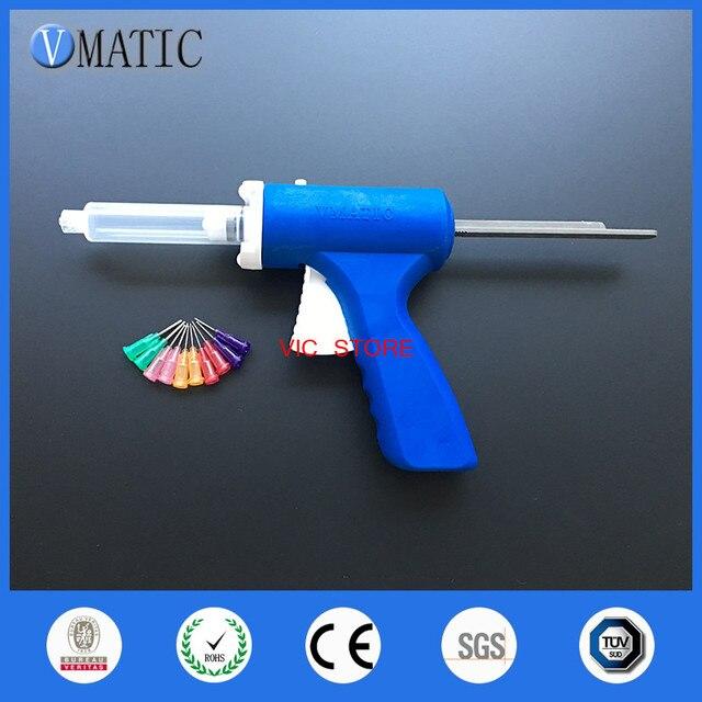 Free Shipping 10ml/cc Manual Syringe Gun Single Liquid Glue Gun 10cc/ml + Dispensing Syringe & Needles