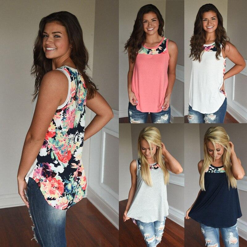 Summer 2019 Women Boho Tank Tops Sleeveless Print Casual Top Plus Size Women Clothes Fashion Streetwear Summer Shirt Sexy Tops