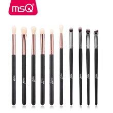 цена на MSQ 6PCS 10PCS Eyeshadow Makeup Brushes Set Eye Eyeliner Blending Eyebrow Make Up Brush Kits Synthetic Hair Cosmetic Tools