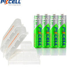 8PCS/lot PKCELL AAA Batteries Ni-MH 1.2V 850mAh AAA Rechargeable Battery 3A Low Self-Discharge Baterias with 2 Battery Case Box(China)