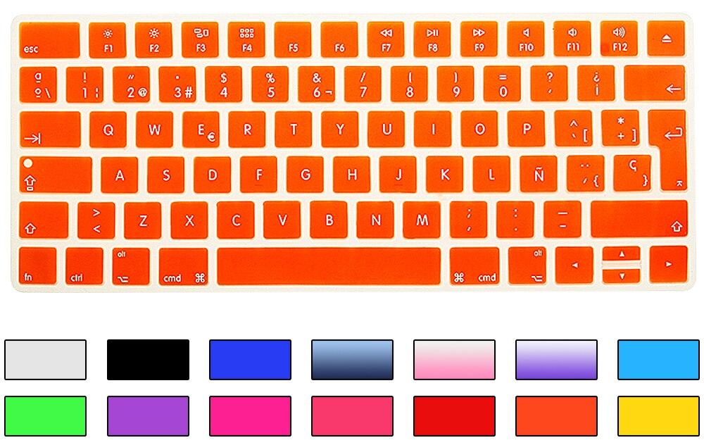 HRH Slim ESP Ispanijos klaviatūros viršelis Silikoninė oda Apple - Nešiojamų kompiuterių priedai - Nuotrauka 3