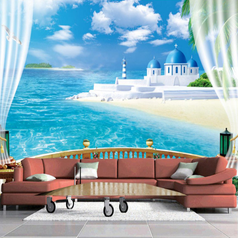 3d Wallpaper Designs For Living Room Customized Any Size Mural Wallpaper Stereoscopic Window