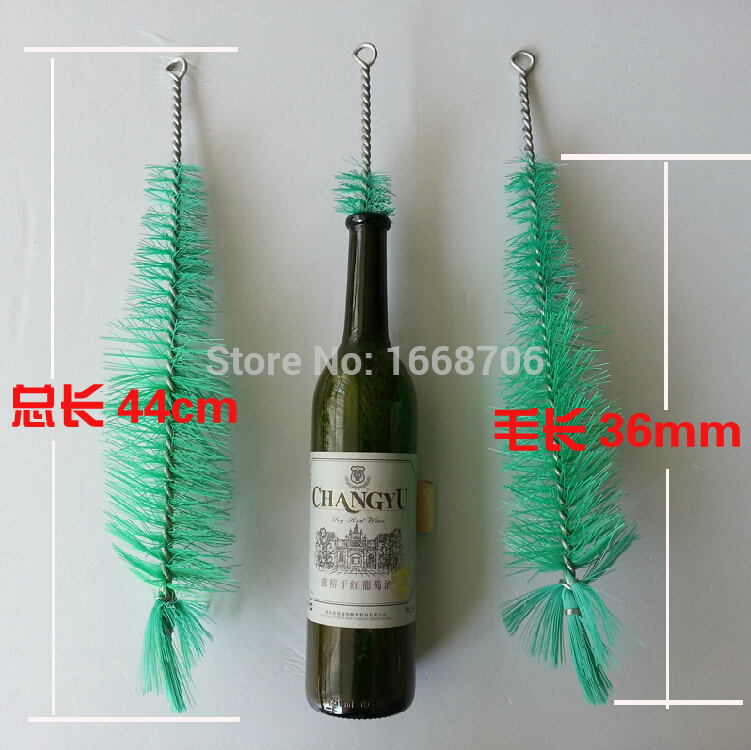 New 2pcs 0-1000ml home brew necessary beer red wine moonshine bottle package tool long bottle brush hero craft brew high quality