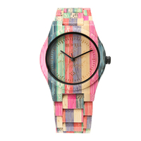 New Desgin Colorful Bamboo Woods Watches Fashion Environmental Protection Watch Reloj Hombre