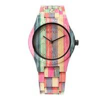 Nowy Desgin Kolorowe Bambusa Woods Zegarki Mody Zegarek reloj hombre Ochrony środowiska