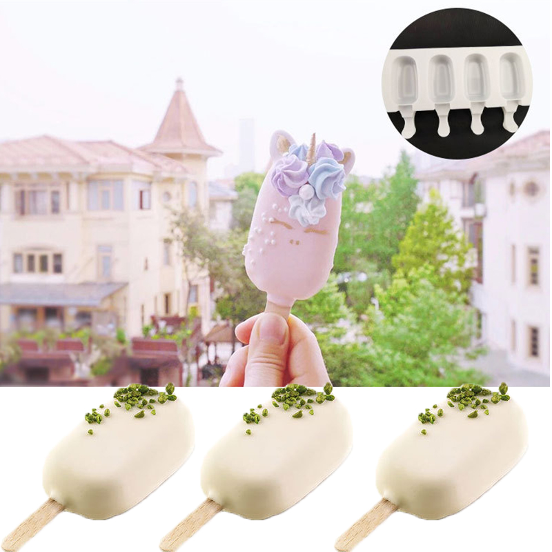 8 Cell Silicone Frozen Ice Cream Mold Juice Popsicle Maker Ice Lolly Mould