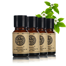 AKARZ Famous brand Oregano Patchouli Peppermint Musk essential oil Pack For Aromatherapy, Massage,Spa, Bath 10ml*4(China)