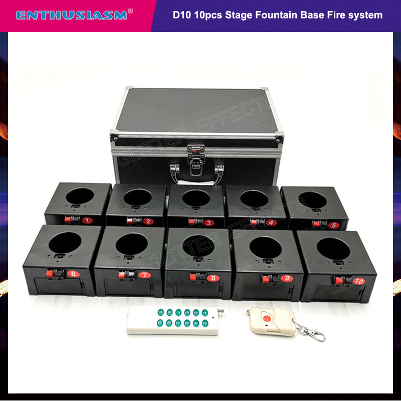 Cold Firework Igniter Machine Wireless Remote Pyrotechnics 10 Cues Receiver Stage Equipment Fountain System 1case 8 Base Firing