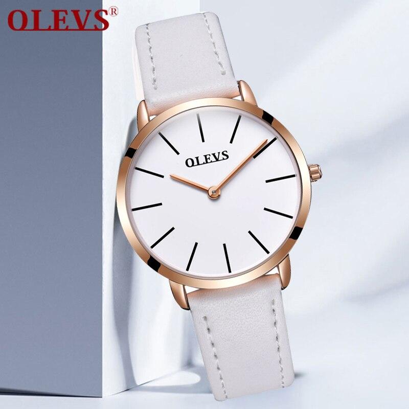 88a785fa407 OLEVS Famoso Relógio Feminino Relógio de Pulso Marca de Luxo Popular  Mulheres Relógios Branco Relógios de Quartzo Negócio relogio feminino em  Mulheres ...