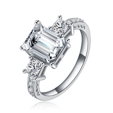 Bijoux Wedding Accessories Cubic Zirconia Stone Pendant Ring for Women 925 Sterling Silver Bridal Bijoux classic rhodium finish men sterling silver 925 ring 5 5mm round cubic zirconia jewelry bijoux homme size 10 to 13 r500